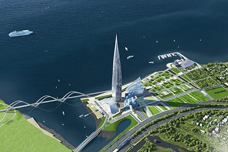 Il Lahta-Center di Gazprom, che dovrà sorgere a San Pietroburgo, al centro della diatriba con l'Unesco (Foto: Ufficio Stampa)