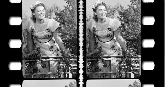 """Una scena tratta dal film """"Terra di gioventù"""", realizzata con una speciale tecnica che produceva un effetto tridimensionale (Foto: www.moscowfilmfestival.ru)"""