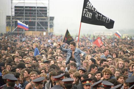 Il 28 settembre 1991 il rock contagia Mosca, con un concerto che ha fatto la storia (Foto: Ria Novosti)