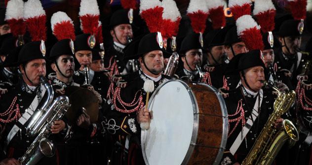 La Banda dei Carabinieri durante il Festival di Musica Militare Spasskaya Bashnya a Mosca (Foto: Ria Novosti)