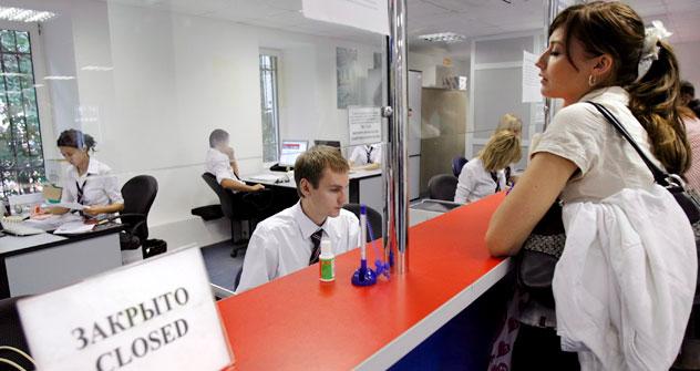 Centro visti all'interno del consolato britannico a Mosca (Foto: Itar-Tass)