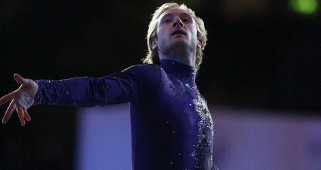 Il pattinatore russo Evgenij Plushenko (Foto: Itar-Tass)