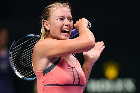 Il sorriso vincente di Maria Sharapova ai Masters di Istanbul (Foto: AP)