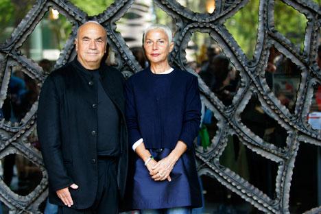 Massimiliano e Doriana Fuksas insieme a Mosca (Foto: Reuters)