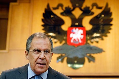 Il ministro russo degli Esteri Sergei Lavrov (Reuters/Vostock Photo)