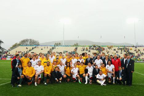 La Nazionale di rugby russa e i Wallabies in Nuova Zelanda nell'ottobre 2011 (Foto: Gettyimages/Fotobank)
