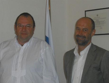 Il Console Onorario della Federazione Russa a Bolzano Bernhard Kiem (a sinistra) ha incontrato i rappresentanti dell'Organizzazione Export Alto Adige (Foto: Ufficio Stampa)