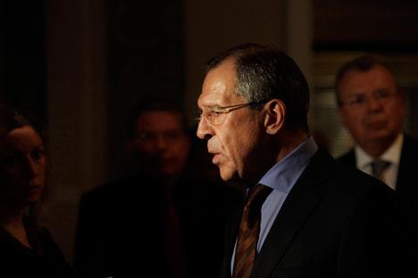Il ministro degli Esteri russo, Sergei Lavrov, in prima linea per la questione siriana (Foto: Gettyimages/Fotobank)