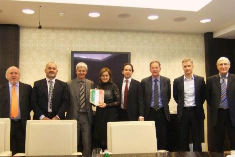 La delegazione rodigina in visita a Mosca (Foto: Ufficio Stampa)