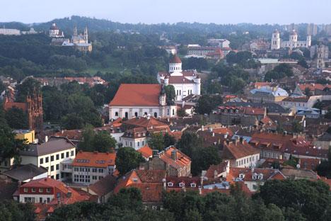 Uno scorcio di Vilnius in Lituania (Foto: Lori/LegionMedia)