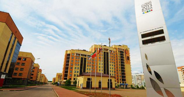 """Nel 2009, Kazan ha vinto il premio nazionale """"Team d'Oro della Russia"""" nella categoria """"Sport Capital"""". Il Villaggio dei Giochi Studenteschi è stato completato tre anni in anticipo rispetto alla data del 2013 in cui la città ospiterà l'evento, ed è a"""