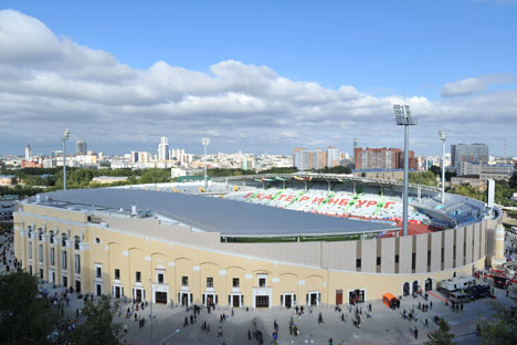 Lo stadio Centralnyj di Ekaterinburg (Foto: Pavel Lysizin/RIA Novosti)