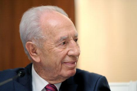 Il presidente israeliano Shimon Peres, in visita a Mosca per un colloquio con il Presidente russo Vladimir Putin (Foto: Itar Tass)