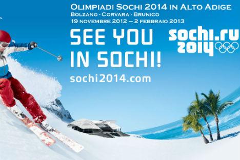 """L'organizzazione autonoma no profit di Sochi 2014 """"Joint Information Center"""" ha scelto l'Alto Adige come prima sede internazionale per la presentazione dei Giochi Olimpici Invernali 2014 a Sochi (Foto: Ufficio Stampa)"""