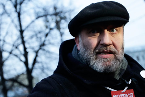 Il giornalista e scrittore Sergei Parkhomenko, membro del Consiglio di Coordinamento dell'opposizione (Foto: Itar-Tass)