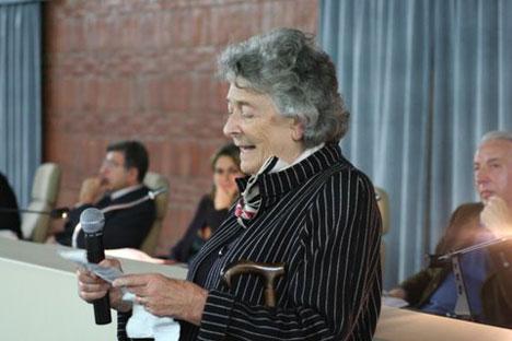 Serata di poesia alla Biblioteca Nazionale di Roma con la principessa Elena Wolkonsky (Foto: per gentile concessione di Tijana Djerkovic)