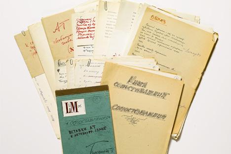 Il 28 novembre 2012, per la prima volta, verrà battuto all'asta materiale personale del cineasta russo (Foto: Sotheby's)