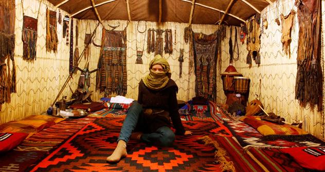 All'interno della grande jurta del Museo delle culture nomadi di Mosca (Foto: Vadim Kantor)
