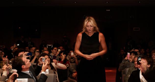 Una splendida Maria Sharapova a Milano (Foto: Calogero Russo)