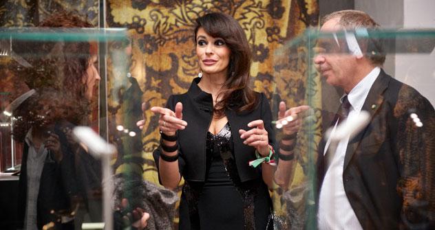 L'attrice Maria Grazia Cucinotta a Mosca (Foto: ufficio stampa)