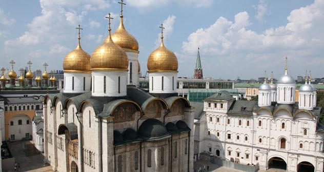 La Chiesa di Uspenskij nel Cremlino di Mosca, realizzata da Aristotele Fioravanti (Foto: Lori/LegionMedia)