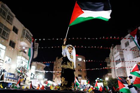 Il 29 novembre 2012 l'Onu delibera l'innalzamento dello status dell'autorità palestinese a Paese osservatore (Foto: Reuters/Vostock-Photo)