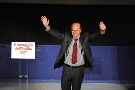 Vittoria schiacciante di Pierluigi Bersani, che a Mosca ha ottenuto 35 preferenze sui 38 votanti recatisi al seggio (Foto: Itar-Tass)