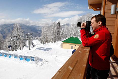 Il primo ministro russo Dmitri Medvedev appoggia la proposta governativa di prezzi calmierati nelle strutture ricettive di Sochi 2014 (Foto: Itar-Tass)