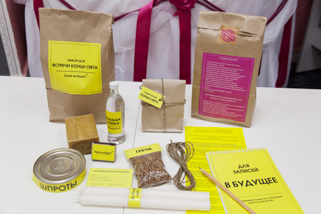 Nei negozi di Tomsk è in vendita un pacco che contiene beni di prima necessità in caso di fine del mondo (Foto: Itar-Tass)