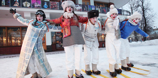Allegria in Russia per le vacanze natalizie (Foto: Ekaterina Chesnokova/RIA Novosti)