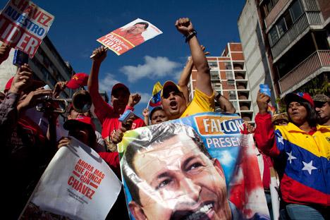 Sostenitori del presidente venezuelano Hugo Chavez (Foto: Ap)