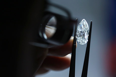 India plans to ease regulations for Russian diamond traders.