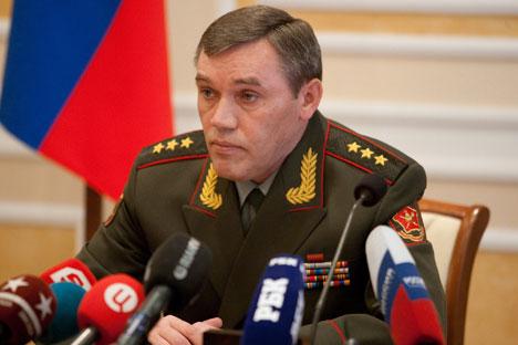 Il Capo di Stato maggiore della Difesa russa, colonnello generale Valery Gerasimov (Foto: PhotoXpress)