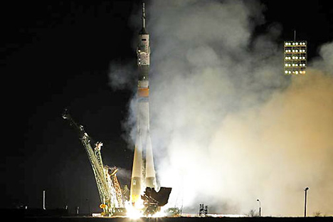 Un lancio effettuato dalla base di Bajkonur (Foto: Reuters)