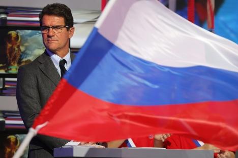 Il ct della Nazionale di calcio russa, l'italiano Fabio Capello (Foto: Itar-Tass)