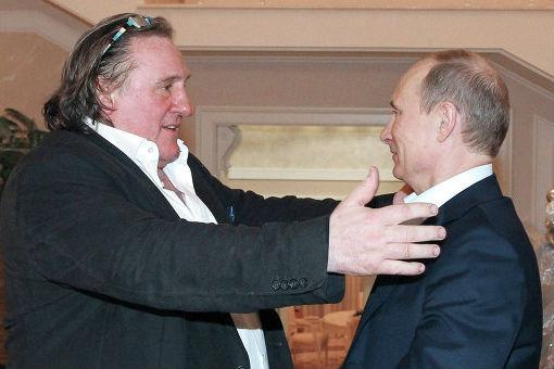 L'incontro dell'attore Gérard Depardieu con il Presidente russo Vladimir Putin, a Sochi, in occasione della consegna del passaporto (Foto: Mikhaïl Klimentiev/RIA Novosti)