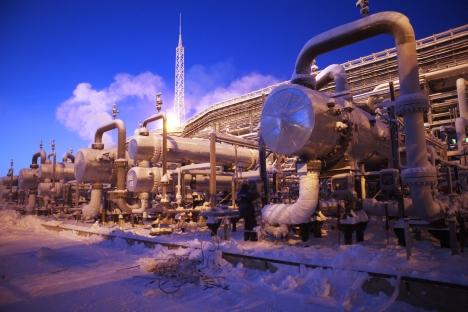 Il giacimento di gas Gazprom di Zapolyarnoye, nel Nord della Siberia, aperto nel 2012 (Foto: Ufficio stampa)