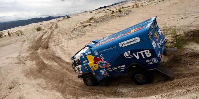 Camion del team Kamaz-Master durante la Dakar 2013 (Foto: AFP/Eastnews)