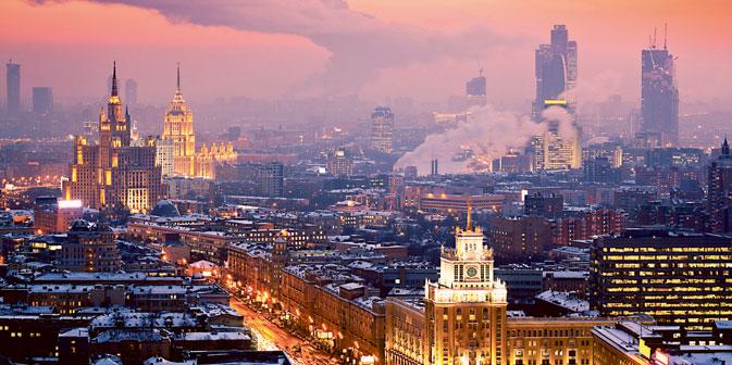 Una suggestiva immagine di Mosca dall'alto (Foto: Gettyimages/Fotobank)