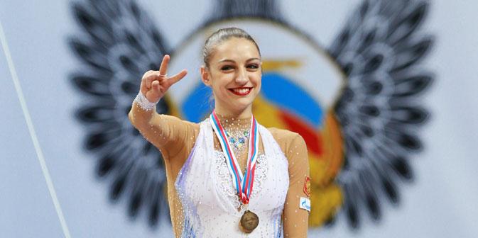 La ginnasta russa Evgenia Kanaeva (Foto: Anton Denisov/ Ria Novosti)