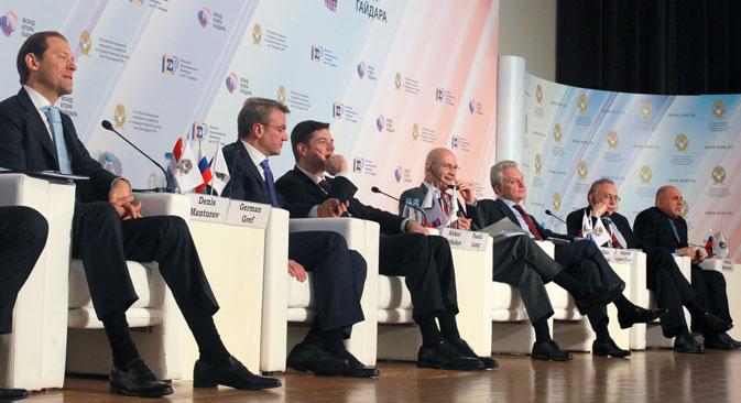 I partecipanti al Forum Gaidar 2013 che si è tenuto a Mosca (Foto: Ria Novosti)