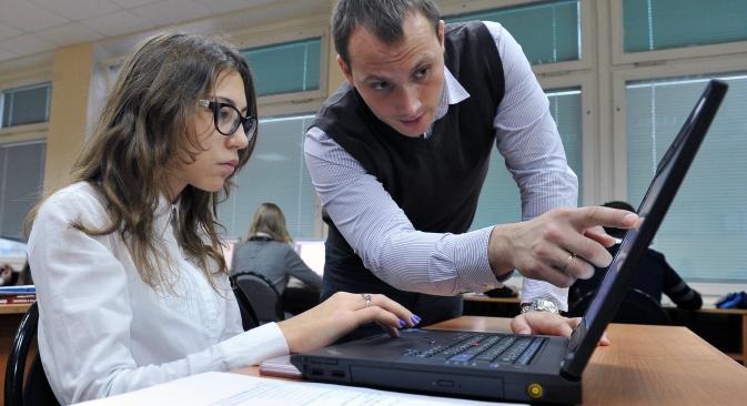 """Tante le novità introdotte in materia di apprendimento nella riforma della legge """"Sull'istruzione"""" (Foto: RIA Novosti / Vladimir Pesnya)"""
