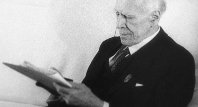 """Il manuale """"Il lavoro dell'attore su se stesso"""", pubblicato da Konstantin Stanislavskij nel 1936, è ancora oggi un testo di riferimento per tutti gli attori (Foto: Ria Novosti)"""