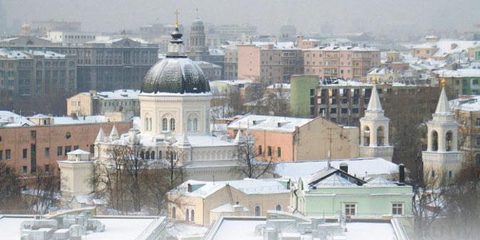 Uno scorcio imbiancato di Mosca (Foto: Nikolai Avvakumov)