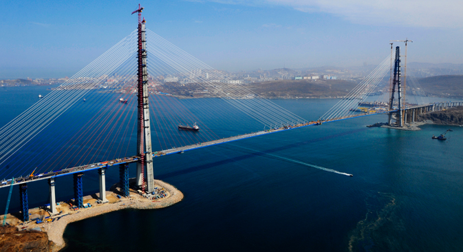 Il monumentale ponte di Vladivostok (Foto: Itar-Tass)