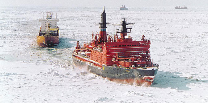 La Rotta marittima del Nord è più breve rispetto al percorso tradizionale che collega l'Asia all'Europa, e riduce notevolmente il tempo di percorrenza (Foto: rosatomflot.ru)