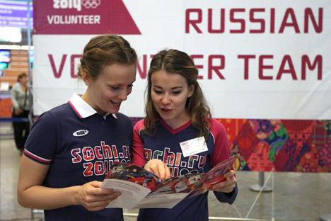 Conto alla rovescia per la chiusura delle selezioni dei volontari che parteciperanno alle Olimpiadi di Sochi del 2014 (Foto: RIA Novosti / Valery Melnikov)