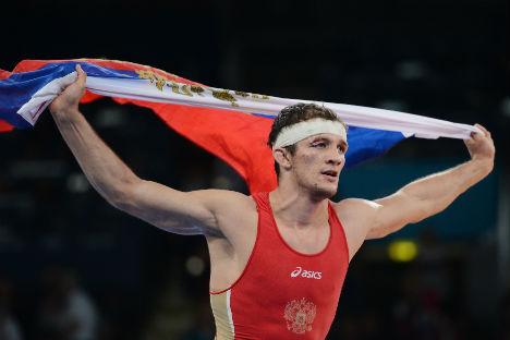 Alan Khugaev, campione russo di lotta greco-romana alle Olimpiadi di Londra 2012 (Foto: Ria Novosti)