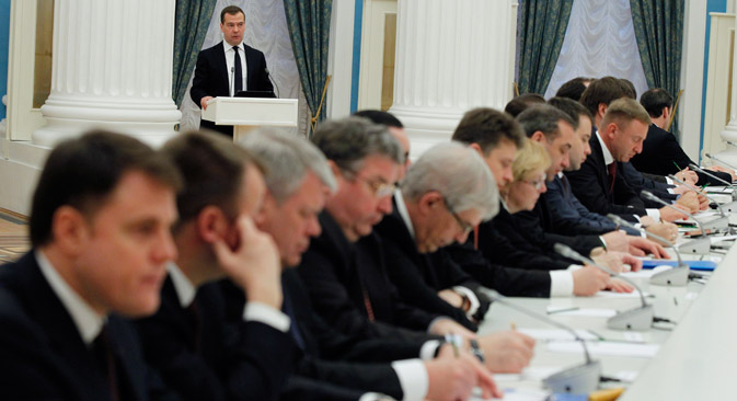 Il governo russo punta a far crescere l'economia del Paese e a migliorare le condizioni per le imprese (Foto: Itar-Tass)