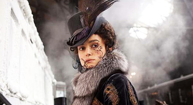 Keira Knightley è Anna Karenina nel nuovo film di Tom Stoppard e Joe Wright, ispirato al celebre capolavoro di Lev Tolstoj (Foto: Kinopoisk.ru)